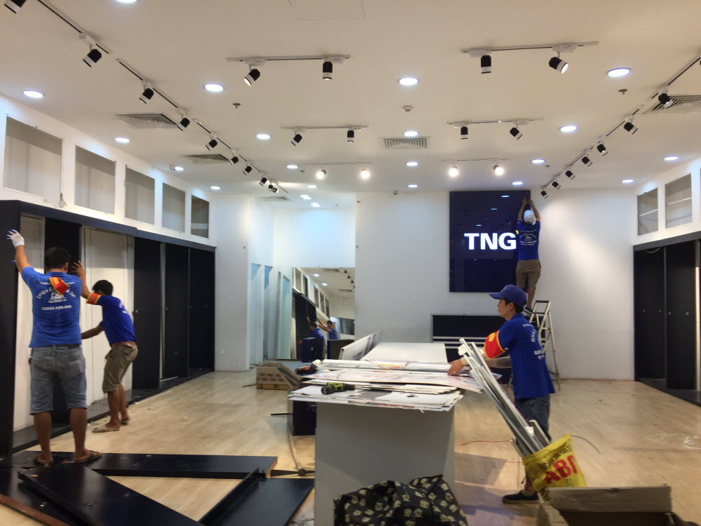 Chuyển gian hàng TNG tại Vincom Hạ Long